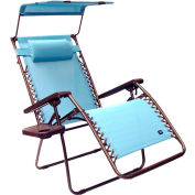 Bliss Wide Gravity Free Recliner w/Shade & Cup Tray , Misty Blue