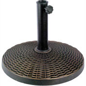 Bliss Umbrella Base, Wicker Resin, Dark Bronze