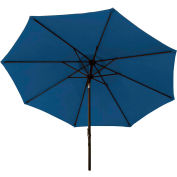 Bliss 9' Market Polyester Outdoor Umbrella, Denim Blue