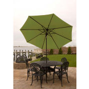Bliss 9' Market Polyester Outdoor Umbrella, Green