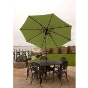 Bliss 9' Market Polyester Outdoor Umbrella, Green