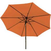 Bliss 9' Market Polyester Outdoor Umbrella, Terra Cotta