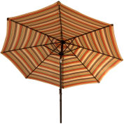 Bliss 9' Market Polyester Outdoor Umbrella, Multi