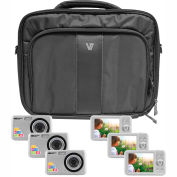 "HamiltonBuhl Camera Explorer Kit, Six 12MP Digital Cameras w/ Flash & 2.4"" LCDs, Nylon Carry Case"