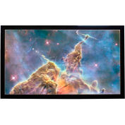 """150"""" Diagonal, 74 x 131 Viewable Fixed Frame Projector Screen, 16:9 Format"""