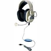 Deluxe USB Headphone w/ Gooseneck Microphone