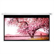 """HamiltonBuhl Electric Projector Screen - 110"""" Diagonal - HDTV Format - White Frame"""