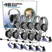Lab Pack, 10 HA5USBSM Headphones w/ Carrying Case