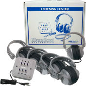 Listening Center 6 Station Jackbox w/ Vol Deluxe Headphones ASM w/ Lam Carry Box
