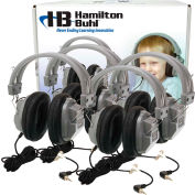 Hamilton Lab Pack, 4 Pack of HA7 Deluxe Headphones in Laminated Cardboard Carry Case