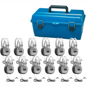 Lab Pack, 12 HA7 Deluxe Headphones w/ Carrying Case