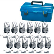 Lab Pack, 12 SC7V Deluxe Headphones w/ Carrying Case