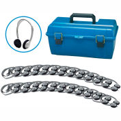 Lab Pack, 24 HA2 Personal Headphones w/ Carrying Case