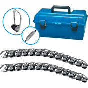 Lab Pack, 24 MS2LV Personal Headphones w/ Carrying Case