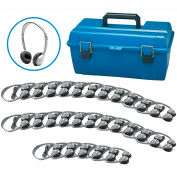 Lab Pack, 30 MS2L Personal Headphones w/ Carrying Case