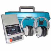 Listening Center with Cassette Recorder, 2 Headphones & Plastic Carry Case