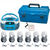 Val-U-Pak USB, MP3, CD Listening Center, 6 Deluxe Headsets