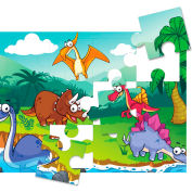 Print-A-Puzzle Blank Puzzle Paper - Pre-Perforated Jigsaw Pieces - 12 per Sheet - Pack of 25