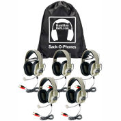Sack-O-Phones, 5 Deluxe Multimedia Headphones in a Carry Bag