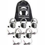 Sack-O-Phones, 5 Deluxe Headphones w/ Mic  in a Carry Bag
