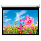 """HamiltonBuhl Manual Pull Down Projector Screen - 84"""" Diagonal - Video Format - White Frame"""