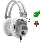 "HygenX 100% Cotton Sanitary Ear Cushion Headphone Covers, 4.5"" White, 600 Pairs"