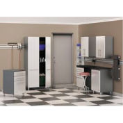 Ulti-MATE Storage 7-Piece Kit in Starfire Pearl - Cabinets & Worktop Bench