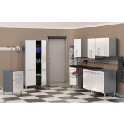 Ulti-MATE Storage 9-Piece Kit in Starfire Pearl - Cabinets & Worktop Bench