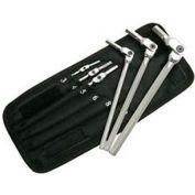 Bondhus 00010 Hex Pro™ Pivot Head Metric Hex Wrench Set 3-10mm, 6 Pieces