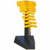 "Bondhus 15390 Set 10 Hex T-handles 9"" Length 3/32""-3/8"" with Stand"