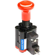 Bimba-Mead Specialty Valve Solenoid ACV-R6M-SR-B, 6mm, Red Knob, Solenoid W/Air Released, 24VDC