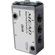 "Bimba-Mead Air Valve LTV-110, 5 Port, 2 Pos, Air Pilot, 1/8"" NPTF Port, Dbl Pressure Actr"