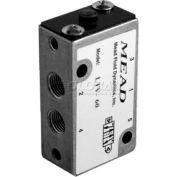 "Bimba-Mead Air Valve LTV-60, 5 Port, 2 Pos, Air Pilot Valve, 1/8"" NPTF Port, Sngl Pressure Actr"