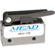 "Bimba-Mead Air Valve MV-10, 3 Port, 2 Pos, Mechanical, 1/8"" NPTF Port, Straight Leaf Actr"