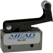 "Bimba-Mead Air Valve MV-20, 3 Port, 2 Pos, Mechanical, 1/8"" NPTF Port, 1-Way Roller Leaf Actr"