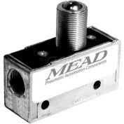 "Bimba-Mead Air Valve MV-40, 3 Port, 2 Pos, Mechanical, 1/8"" NPTF Port, Ball Roller Actuator"