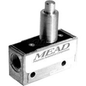 "Bimba-Mead Air Valve MV-45, 3 Port, 2 Pos, Mechanical, 1/8"" NPTF Port, Straight Plunger Actr"