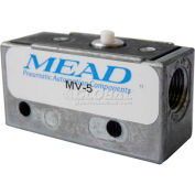 "Bimba-Mead Air Valve MV-5, 3 Port, 2 Pos, Mechanical, 1/8"" NPTF Port, Pin Plunger Actuator"