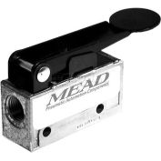 "Bimba-Mead Air Valve MV-50, 3 Port, 2 Pos, Manual, 1/8"" NPTF Port, Fingertip Lever Actuator"