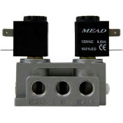 "Bimba-Mead Air Valve N2-DCD-120VAC, 5 Port, 2 Pos, Double Solenoid, 1/4"" NPTF, 120VAC"