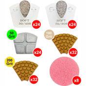 WerkMaster Termite XT Concrete Polishing Package - Matte Finish for Medium Concrete - 020-0389-MM