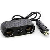 BT Basics DuoPort Dual 12V Socket/USB Adapter