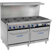"Bakers Pride 60-BPV-10B-S26-LP - Gas Range, LP, 360,000 BTU, 10 Burners, (2) 26-1/2"" Ovens"