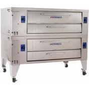 "Bakers Pride Y-802-LP - Deck Oven, LP, 240,000 BTU, Heavy Duty Stand, 84""W x 51""D x 66-1/4""H"