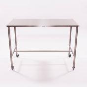 "Blickman Sawyer H-Brace Instrument Table 7841SS 33""L x 18""W x 34""H"