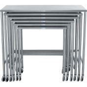 Blickman 7821SS Nested Instrument Table with Shelf, Complete Set of 6