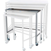 "Blickman Nested Instrument Shelf Table 7825SS 36""L x 18""W x 36""H"