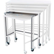 "Blickman Nested Instrument Shelf Table 7826SS 32""L x 16""W x 34""H"