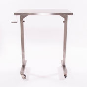 "Blickman Adjustable Height Instrument Table 7892SS-O 36""L x 20""W"