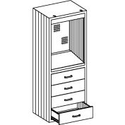 "Blickman DC24 Desk Cabinet with 4 Drawers, 24-1/8""W x 18""D x 60""H"
